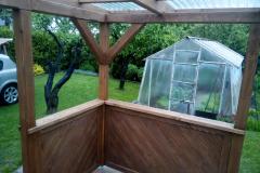 Zahradní pergola s grilem a houpací sítí
