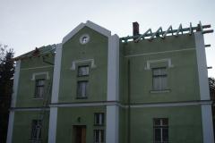Replika původního krovu na hájnece Strášov
